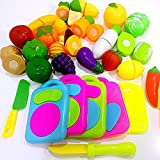Catnew Multifunction Creative Kids Pretend Role Play Kitchen Fruit Vegetable Food Toy Cutting Set Child Gift