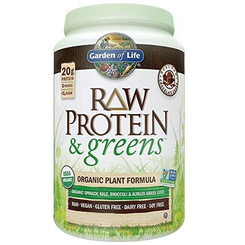 Long 1 Lb Package - Garden of Life Greens and Protein Powder - Organic Raw Protein and Greens with Probiotics/Enzymes, Vegan, Gluten-Free, Vanilla,19.40 (1 lb 3.40oz/550g) Powder,Package may vary