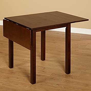 Simple Living Austin Drop Leaf Table Constructed of Stout and Attractive Rubber Wood