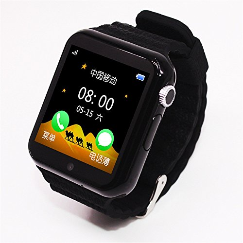 Kids GPS Smart Watch Safe Anti-Lost Monitor Waterproof Watches With Camera/Facebook SOS Call Location Device Tracker (Black)