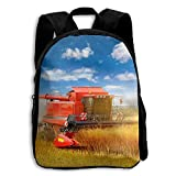 SARA NELL Kids School Backpack Tractor Boys Girls Bag