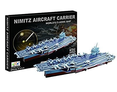 Foam 3D Puzzle, U.S Aircraft Carrier Nimitz Battleship, Educational Toy, Great Gift for Navy Personnel, Future Young Captain Kids and U.S Navy Retired Personnel