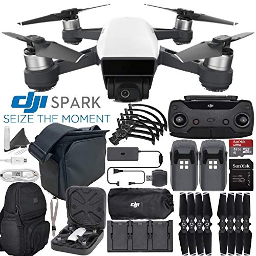 DJI Spark Quadcopter/Mini Drone Fly More Combo & Outdoor Adventure Kit (Alpine White)