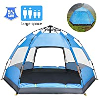 Ylovetoys Camping Tent, Double Layer Family Camping...