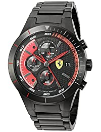 Ferrari Men's 0830264 RED REV EVO CHRONO Analog Display Quartz Black Watch