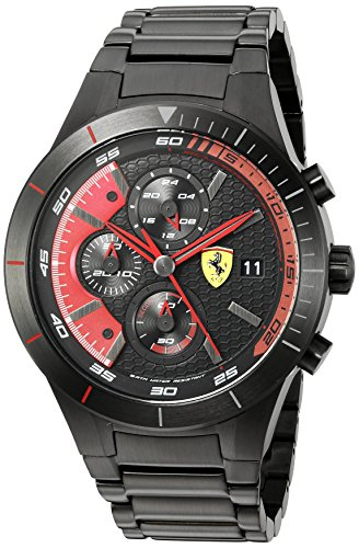 Ferrari 830264 'RED REV EVO CHRONO' Quartz Resin Watch