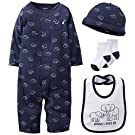 Carter's Baby Boys' 4 Piece Layette Set (Baby) - Navy - 3 Months