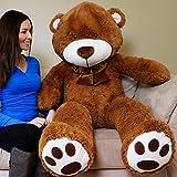 5 foot bear - Yesbears Giant Teddy Bear 5 Feet Brown Microfiber Bowtie & Face (Ulra-Soft)