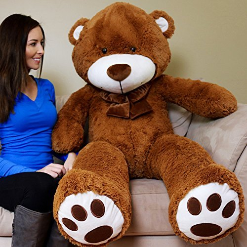 Yesbears 5 Feet Giant Teddy Bear (Brown Color Microfiber Bow tie)