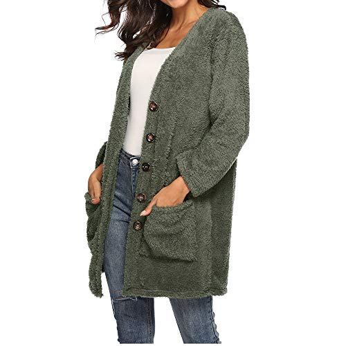 Femmes Sexy Chemise Laine Veste Tee Tee Caps Tee Femme Loose Tee Sexy POTTOA Tops Shirts Hiver Cascade Manteau Shirt Blouse Chemisier T Swag Pull Imprimes Pull Femme Vert Shirt Sexy Sexy Cardigan dwSxRq