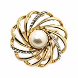Creazy® Tricyclic Hollow Garland Scarf Buckle Brooch Holder Scarf Jewelry (Gold)