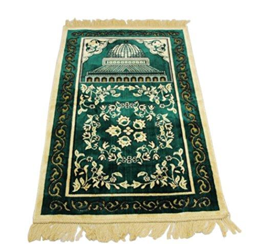 Sandala Islam Sajadah Rug Muslim Ramadan Bellebed Sajjadah Prayer Mat (Red)