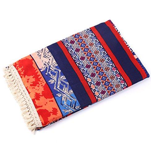 Women's Boho Bohemian Soft Blanket Oversized Fringed Scarf Wraps Shawl Sheer Gift