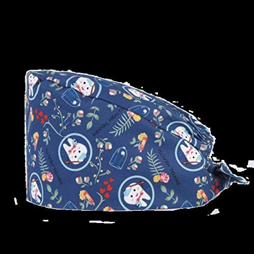 NO LOGO PNLD Zurück Cap aus Reiner Baumwolle Nette Krankenschwester medizinische Arbeit Hat männliche und weibliche Adjustable Medical Cap (Farbe : Ivory, Größe : One Size)
