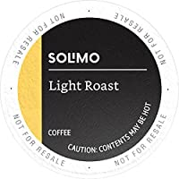 Amazon Brand - 100 Ct. Solimo Coffee Pods, Light Roast, Compatible with 2.0 K-Cup Brewers