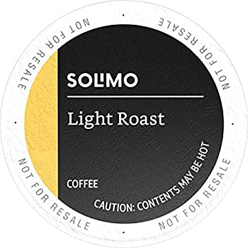 100 Count Amazon Brand Solimo Light Roast Coffee Pods