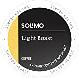 Amazon Brand - 100 Ct. Solimo Light Roast Coffee K-Cup Pods, Morning Light, Compatible with 2.0 K-Cup Brewers