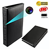 CAMXSW Book Camera HD 1080P Home Security Convert Camera/Nanny Cam/Pet Monitor / Video Recorder/Snapshot with 10000mAh Large-Capacity Battery,Night Vision and Motion Detection