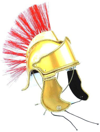 [Forum Deluxe Crested Roman Costume Helmet, Gold, One Size] (Egyptian Soldier Costumes)