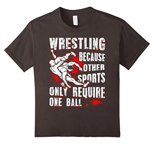 Kids Wrestling T-shirts Because Other Sports Only 6 Asphalt by Funny Wrestling T-Shirts