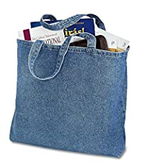 This is a Denim Shopper with cotton webbed handles and zippered closure. It is great and ideal for everyday outings. These eco-friendly bags are made of 100% Cotton and are good durable, sturdy, good-quality, fashionable looking and stitching...