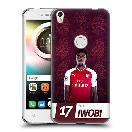 Official Arsenal FC Alex Iwobi 2017/18 First Team Group 1 Soft Gel Case for Alcatel Shine Lite