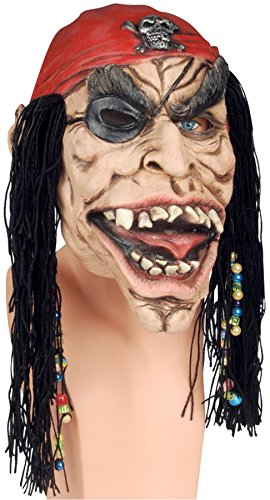 (Loftus International Adult Dead Pirate Mask W Beaded Dreads, One)