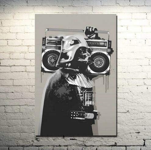 Faicai Art Bansky Graffiti Street Art Wall Art Canvas Prints Black and White Art Wall Decor Paintings Cool Decor