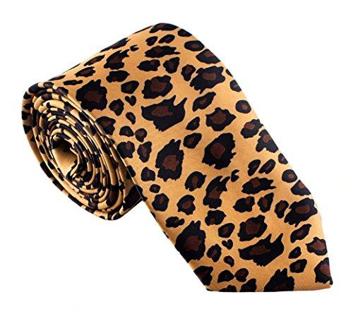 Men's Fashion Leopard Print Tie for Weddings Parties Costumes -