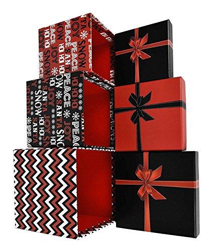 Alef Elegant Decorative Holiday Themed Nesting Gift Boxes -5.5