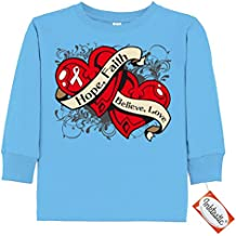 Inktastic Little Boys' Mesothelioma Dual Hearts Toddler Long Sleeve T-Shirt by HDD
