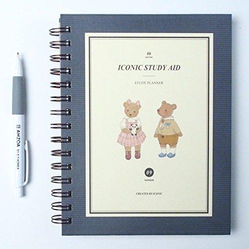 Iconico Study Planner V with AHZOA Pencil (Teddy Bear)