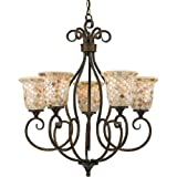 Quoizel MY5005ML 5-Light Monterey Mosaic Chandelier in Malaga Review