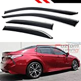toyota camry rain - Cuztom Tuning FOR 2018 TOYOTA CAMRY CLIP-ON TYPE CHROME TRIM WINDOW VISOR RAIN GUARD DEFLECTOR