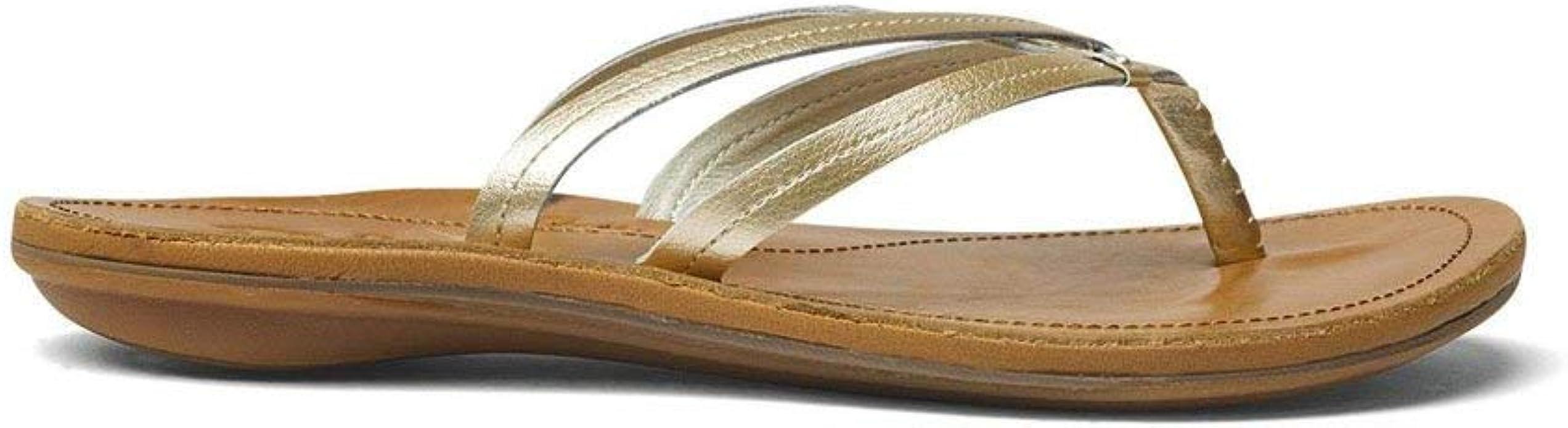 Sahara Women/'s Casual Leather Thong Sandals 20245-FAFM OluKai U/'I Bubbly