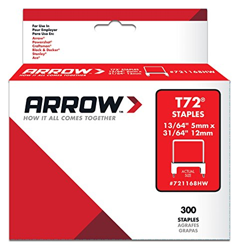 Insulated Staple Wire (Arrow Fastener 721168HW Genuine T72 UL Insulated Staples 13/64-Inch by 31/64-Inch Staples, 300-Pack)