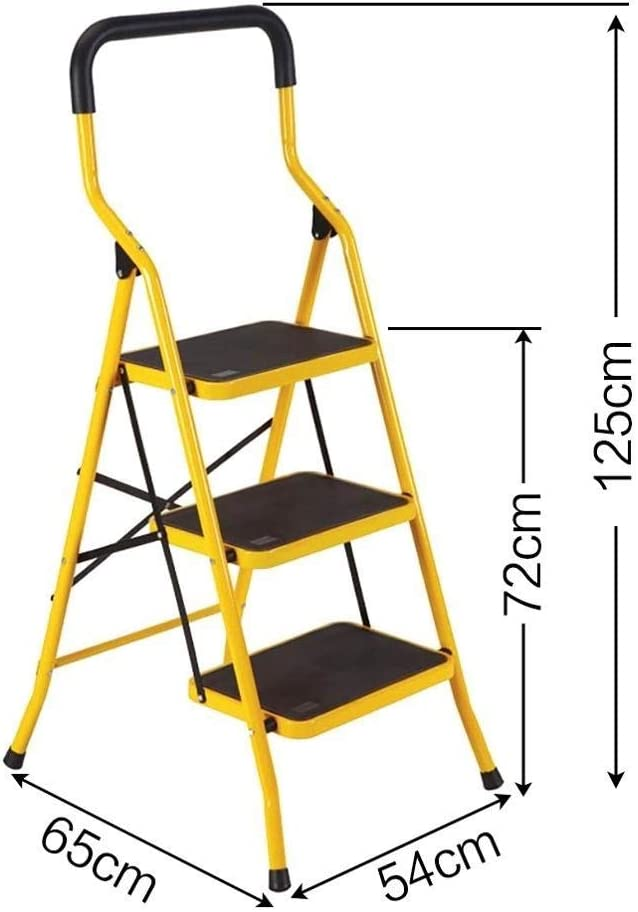 QI-shanping Escalera de aluminio liviana de 3 escalones Escalera plegable para taburetes Escaleras de escaleras para el hogar y la cocina Escaleras antideslizantes antideslizantes robustas y anchas Ca: Amazon.es: Hogar