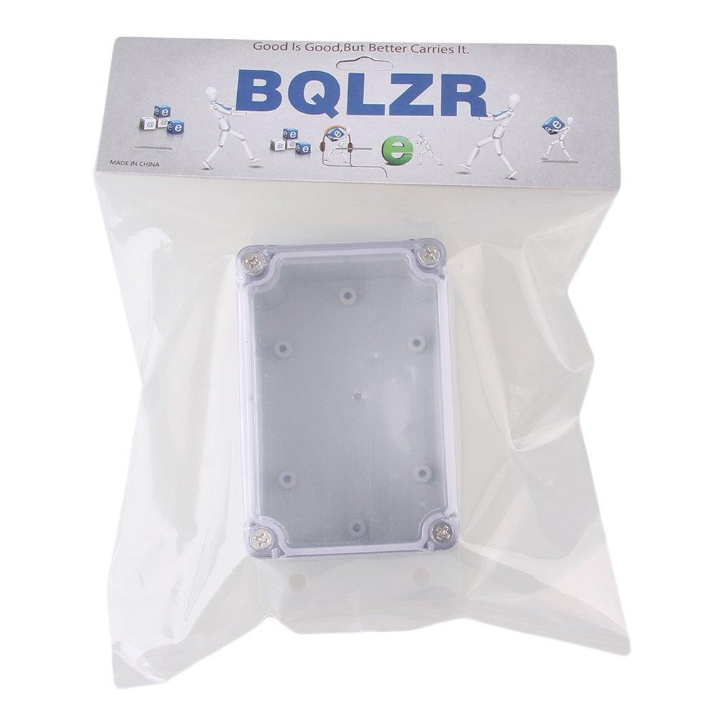 BQLZR 132 x 68 x 50 mm Plastique étanche IP65 carré électrique projet Coque scellé Boîte de dérivation avec couvercle Tansparent BQLZRN25820