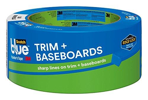 ScotchBlue 2093EL-48E Trim + BASEBOARDS Painter's Tape, 1.88-Inch x 60-Yards, Blue - 3m 2090 Masking Outdoor Tape
