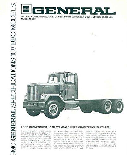 108 Folders (1977 GMC General 108 BBC NI9502 Truck Brochure)