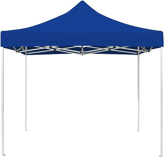 Festnight Carpa Plegable Profesional de Aluminio Carpas de Jardin Carpas para Terraza Azul 3x3 m: Amazon.es: Jardín