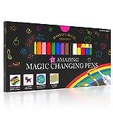 Marvin's Magic - 25 Amazing Magic Pens   Color Changing Pens   Create 3D Lettering or Write Secret Messages   Art Supplies for Kids