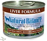Natural Balance Canned Dog Food, Liver and Rice Recipe, 12 x 6 Ounce Pack, My Pet Supplies