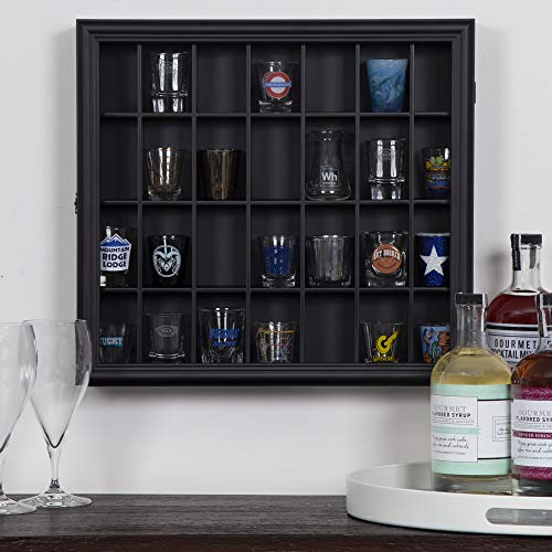Gallery Solutions 18x16 Shot Glass Display Case with Hinged Front in Black by Gallery Solutions (Image #6)