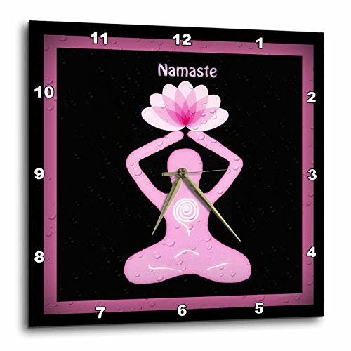 A Namaste image with a Goddess Holding A Lotus Flower