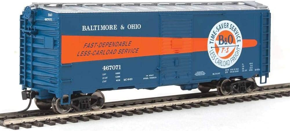 #467071 Walthers HO Scale 40 AAR 1944 Boxcar Baltimore /& Ohio//B/&O Time-Saver