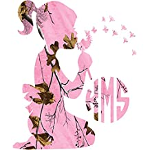 Little Girl Monogram Pink Camo Decal sticker ( please leave your initials in the order that you want them in! ) Any sticker can be made yeti size to large back glass size