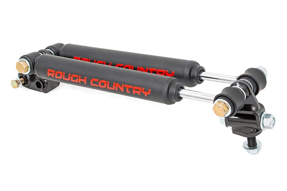 """Rough Country Dual Steering Stabilizer (fits) 97-06 Jeep Wrangler TJ 