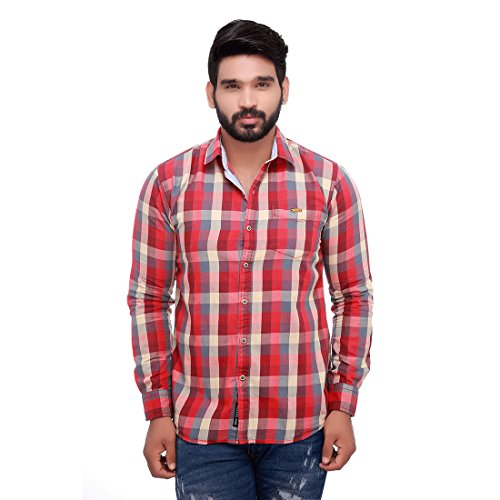 Roller Fashions Men's Checkered Casual Multicolor Shirt
