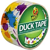 Duck Brand 280424 Printed Duct Tape, Paint Splatter, 1.88 Inches x 10 Yards, Single Roll